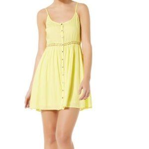 Short yellow summer dress